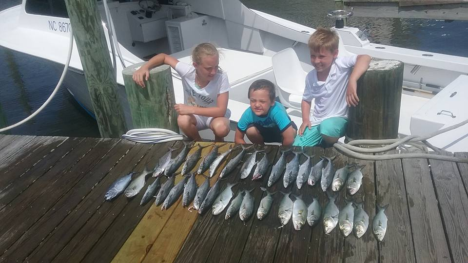 Outer Banks fishing on the Hatterascal